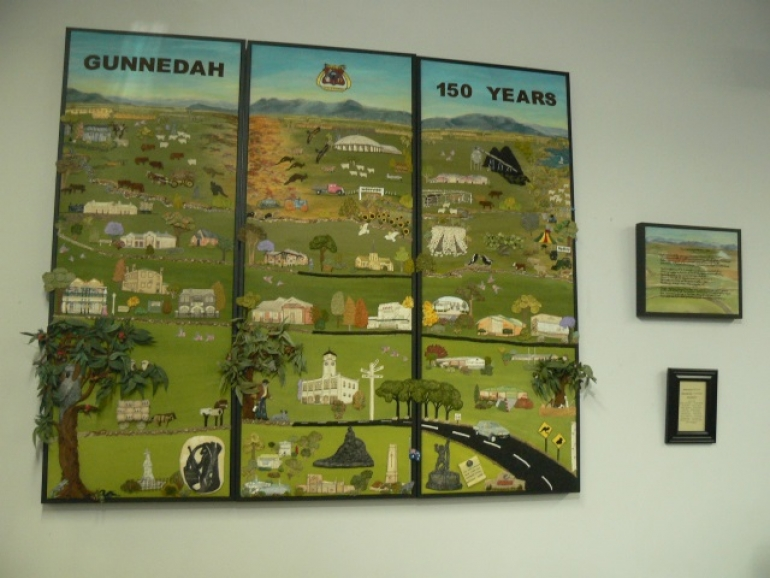 Sesquicentenary embroidery on public display in the library